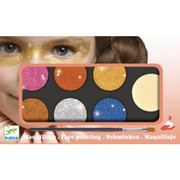Bilde av ANSIKTSMALING - 6 Glitterfarger - Djeco