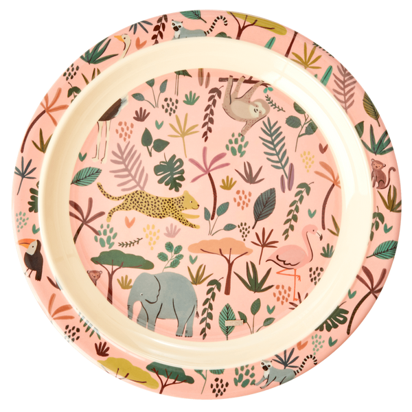 Bilde av ASJETT - Rosa Jungle Animals Print - Rice
