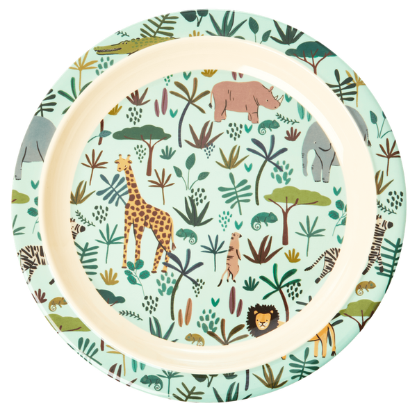 Bilde av ASJETT - Grønn Jungle Animals Print - Rice