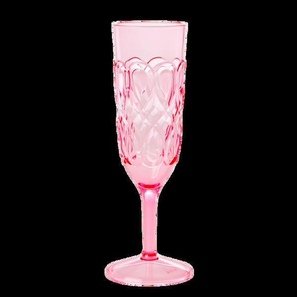 Bilde av AKRYLGLASS - Champagne - Rosa - Rice