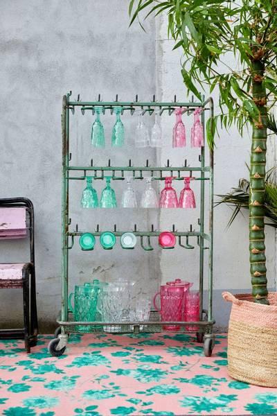 Bilde av AKRYLGLASS - Champagne - Grønn - Rice