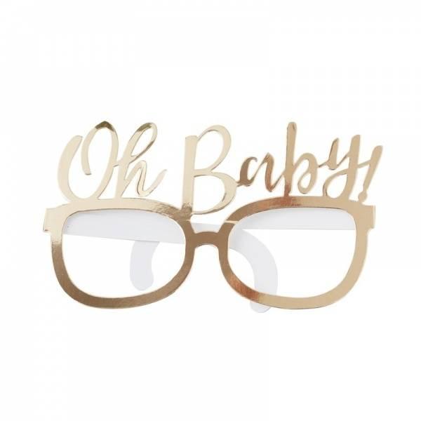 Bilde av PARTYBRILLER - Gull - Oh Baby!