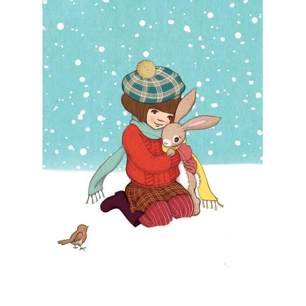 Bilde av KORT - Winter Hug - Belle & Bo