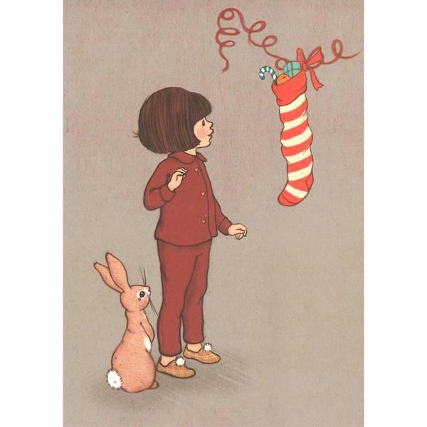 Bilde av KORT - Christmas Stocking - Belle & Bo