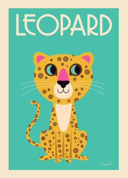 Bilde av POSTER - The Leopard - Ingela P Arrhenius