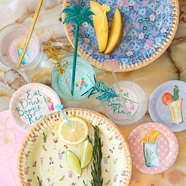 Bilde av PARTYPICKS - Cocktail - Gull & Glitter - Rice