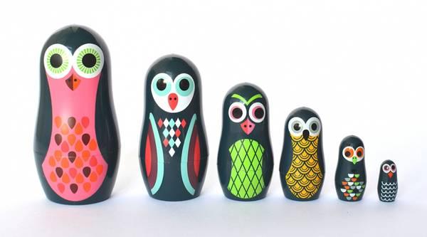 Bilde av MATRYOSHKA - Pocket Owls - Ingela Arrhenius