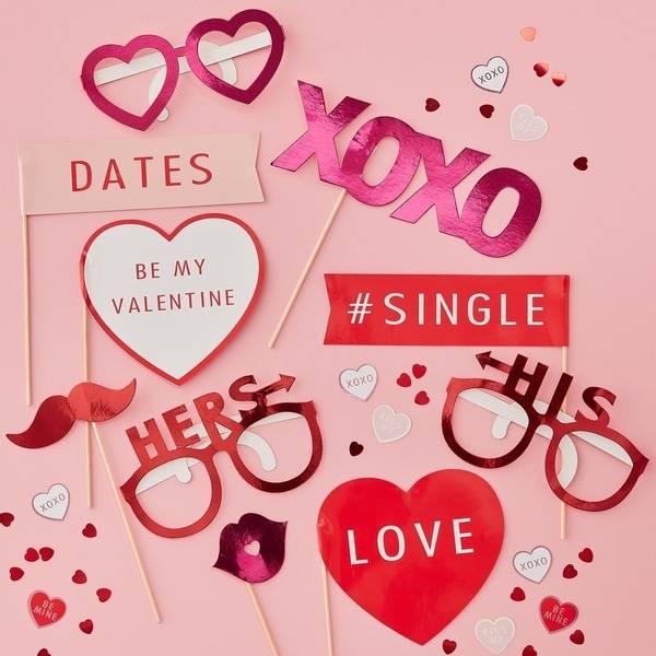 Bilde av PHOTO BOOTH PROPS - Be My Valentine