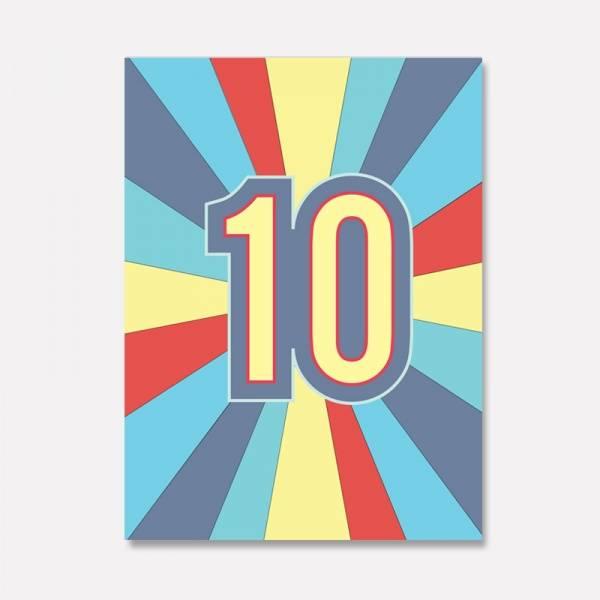 Bilde av KORT - Tall - 10 - Jubel
