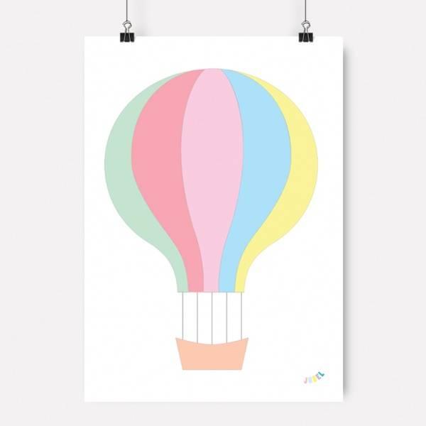 Bilde av PLAKAT - Luftballong - Tuttifrutti - Jubel