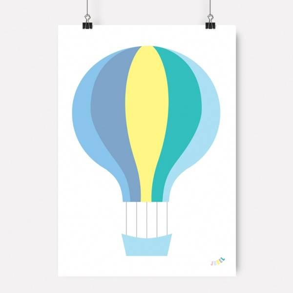 Bilde av PLAKAT - Luftballong - Gul - Jubel