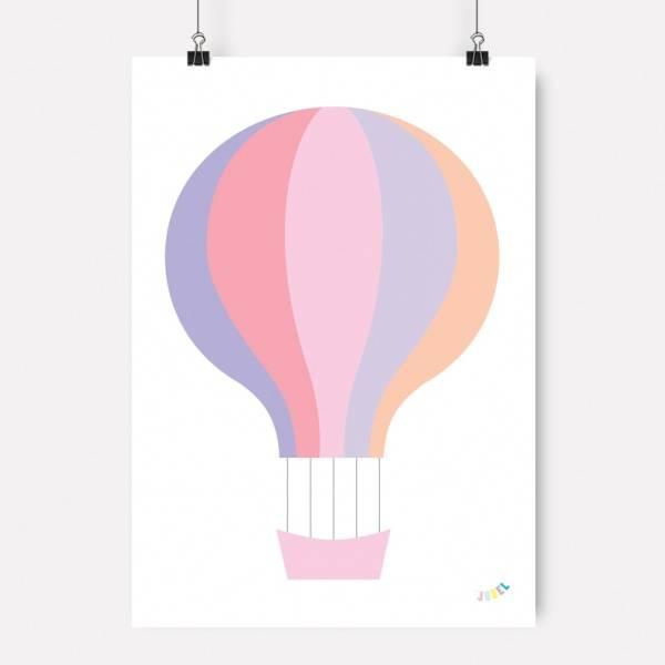 Bilde av PLAKAT - Luftballong - Lilla - Jubel