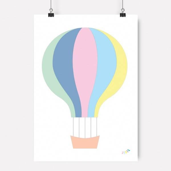 Bilde av PLAKAT - Luftballong - Pastell Rosa - Jubel