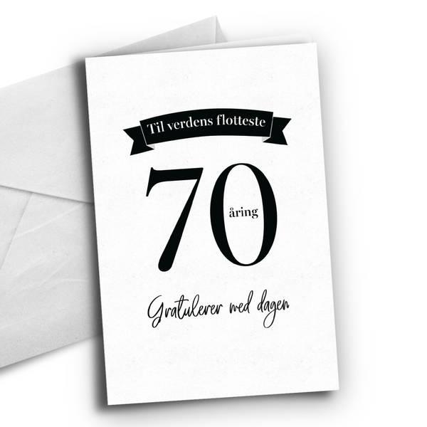 Bilde av KORT - 70 åring - Bursdagskort