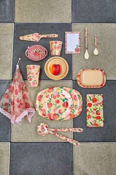 Bilde av HØY KOPP - Peach Print - Rice