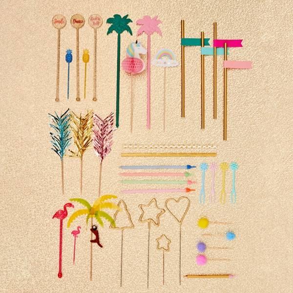 Bilde av PARTYPICKS - Cocktail - Pink Flamingo - Rice