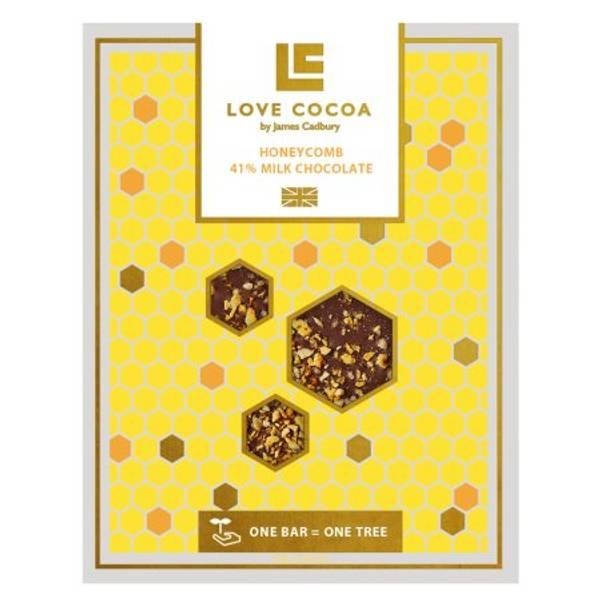 Bilde av MELKESJOKOLADE - Honeycomb - Love Cocoa