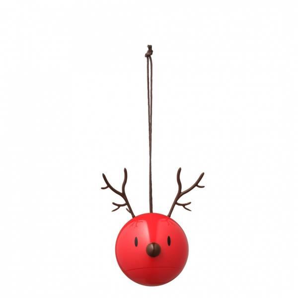Bilde av HOPTIMIST JULEKULER - Reindeer - Rød