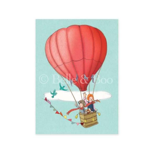 Bilde av KORT - Balloon Adventure - Belle & Bo