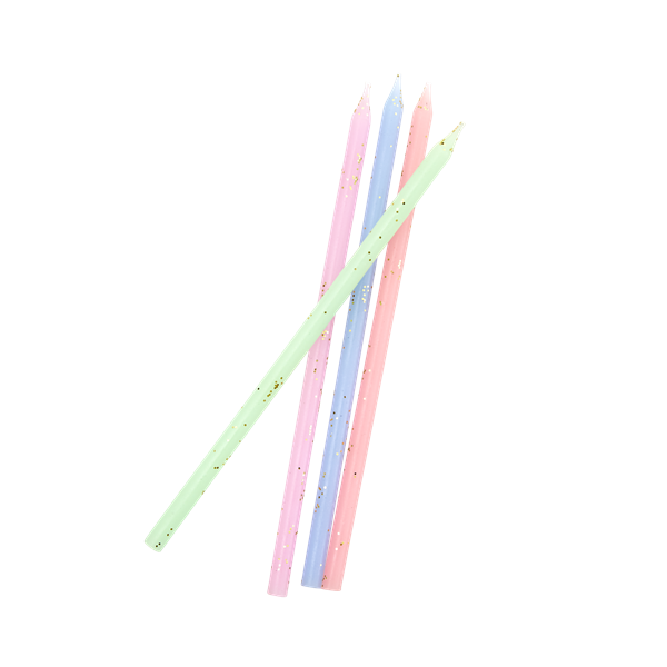 Bilde av LANGE KAKELYS - Assorted Pastel Color - Rice