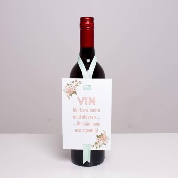 Bilde av VINKORT - Vin blir bare bedre med alderen...