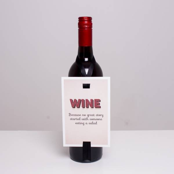 Bilde av VINKORT - Wine because no great story started with...
