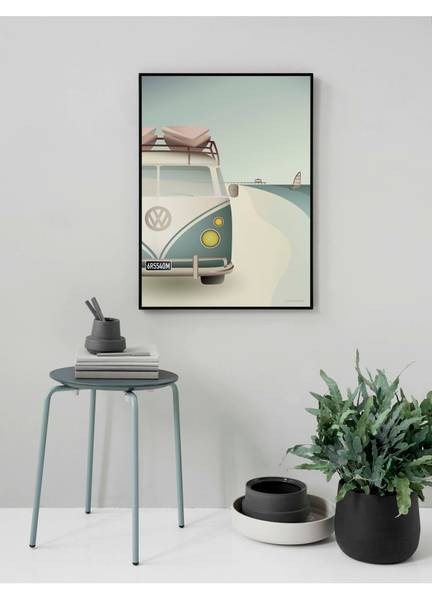 Bilde av PLAKAT - VW Camper - Vissevasse