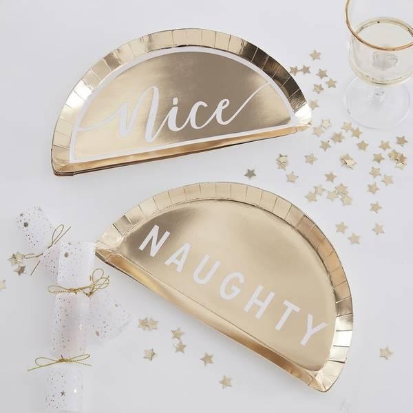 Bilde av PAPPASJETTER - Gull - Naughty /  Nice - Gold Glitter