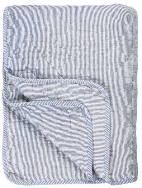 Bilde av TEPPE - Quilt - Striper - Blå - Ib Laursen