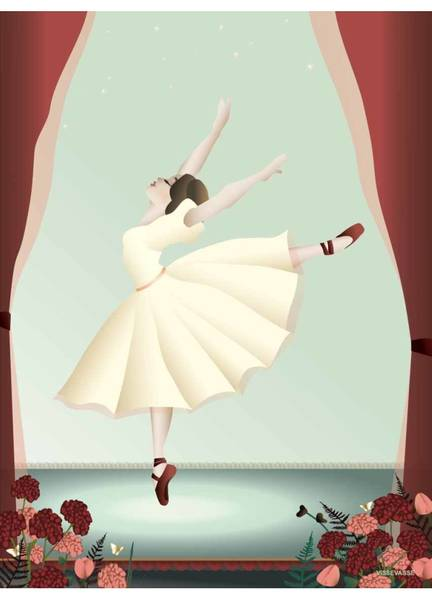Bilde av PLAKAT - Ballerina - Vissevasse