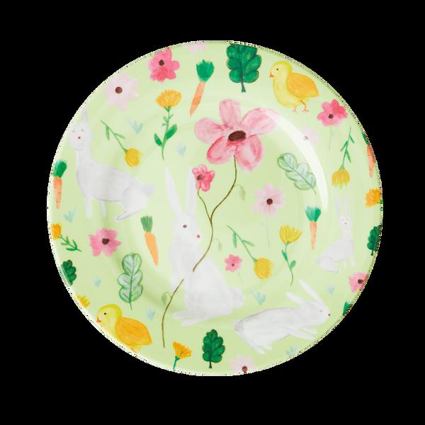 Bilde av RUND ASJETT - Eplegrønn - Easter Print - Rice