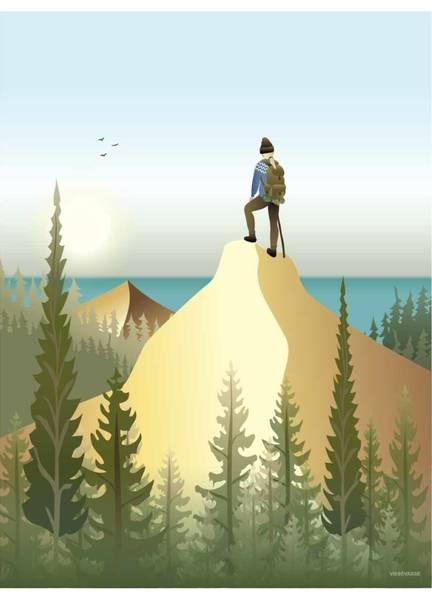 Bilde av PLAKAT - Top Of The Mountain - Vissevasse