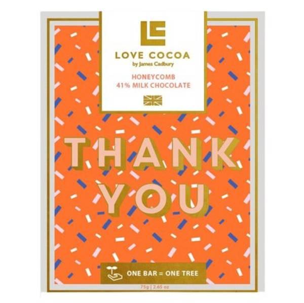 Bilde av MELKESJOKOLADE - Thank You - Love Cocoa