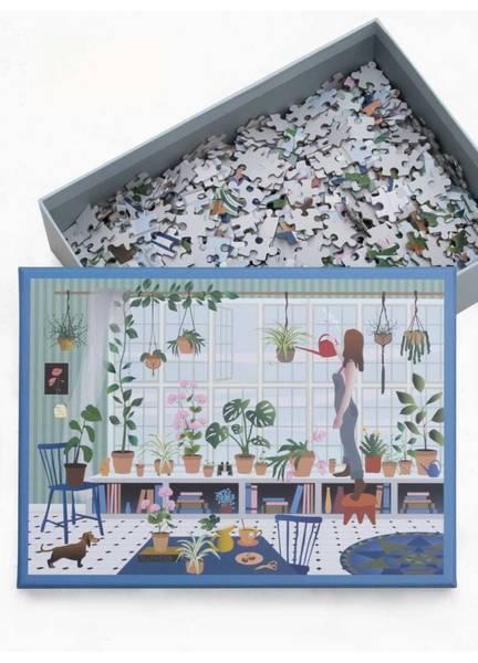 Bilde av PUSLESPILL MED 1000 BRIKKER - Plant Lover - Vissevasse
