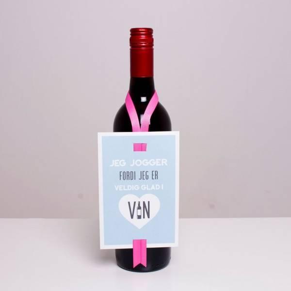 Bilde av VINKORT - Jeg jogger fordi jeg er veldig glad i vin
