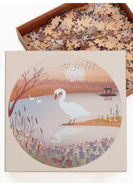 Bilde av PUSLESPILL MED 1000 BRIKKER - The Swan - Vissevasse