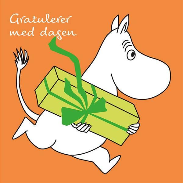 Bilde av MUMMIKORT - Oransje - Gratulerer med Dagen