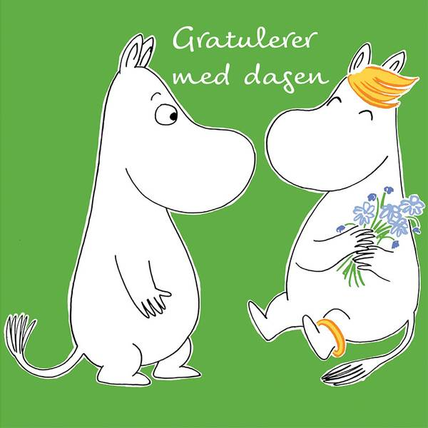 Bilde av MUMMIKORT - Grønn - Gratulerer med Dagen