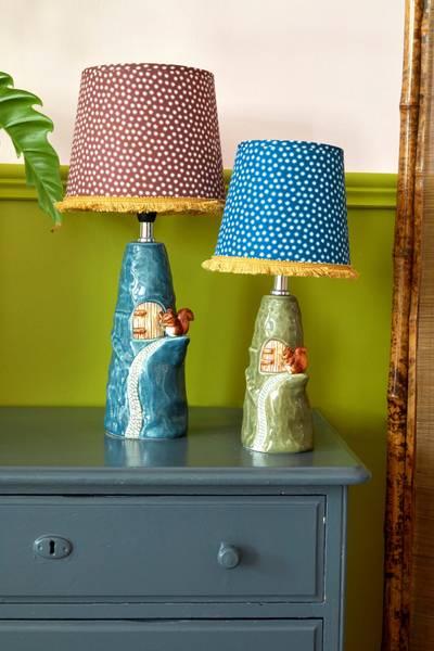 Bilde av LITEN LAMPE - Grønn / Ekorn- Rice