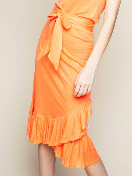 Bilde av ella&il Jae Linen Skirt Peach