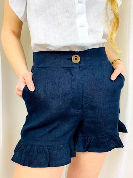 Bilde av ella&il Mynthe Linen Shorts