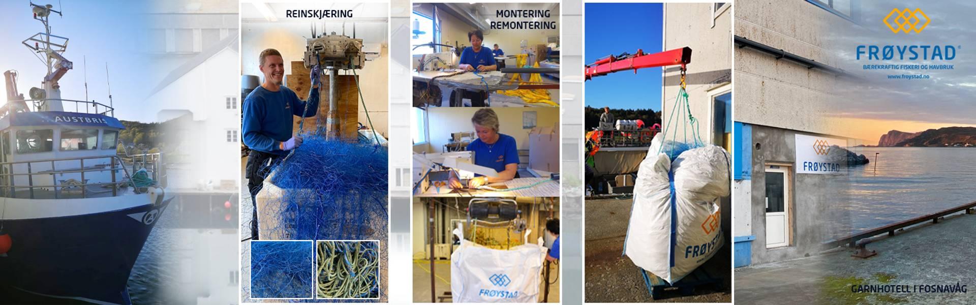 garnmontering fiskeutstyr fiskeri kystfisker