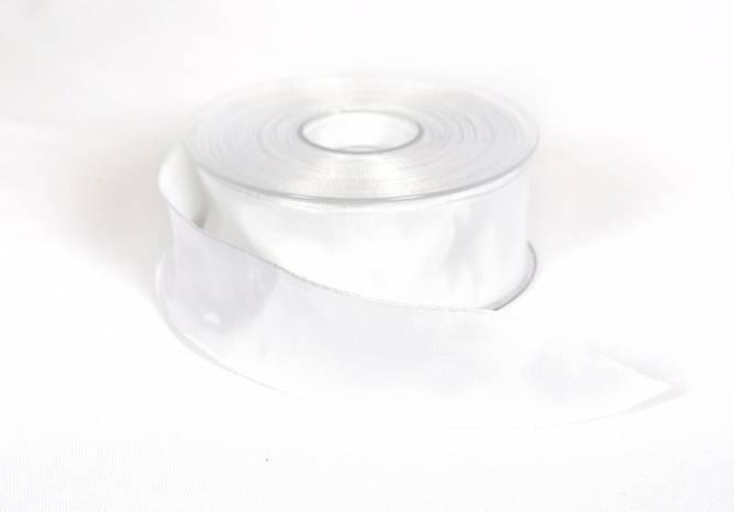 Bilde av Bånd m/ståltrådkant hvit