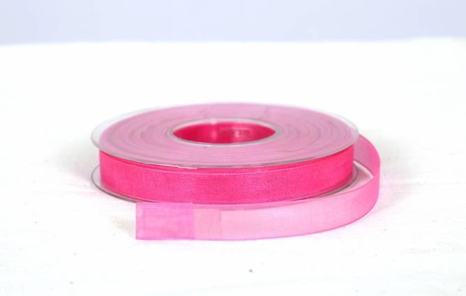 Bilde av Organzabånd, mørk rosa, 15 mm