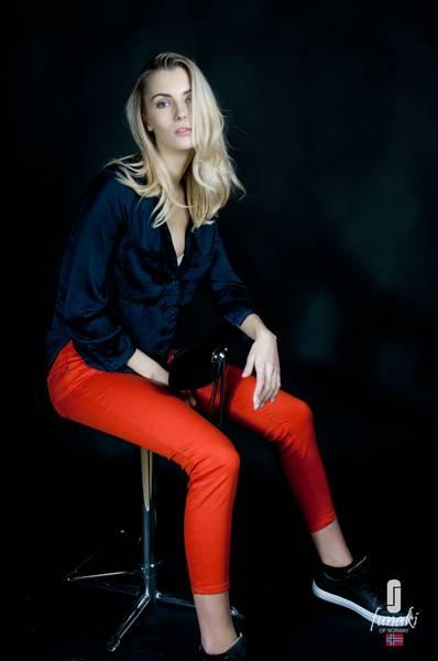 Funaki Frida Rød twill jeans