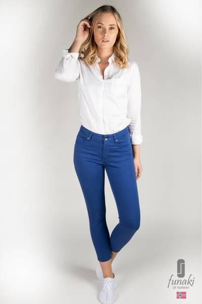 Funaki Frida Cobolt blå twill jeans