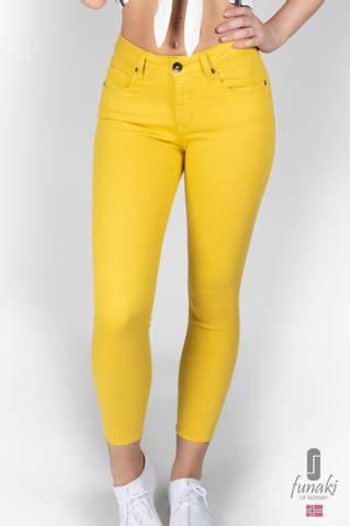 Bilde av Funaki Frida gul twill jeans