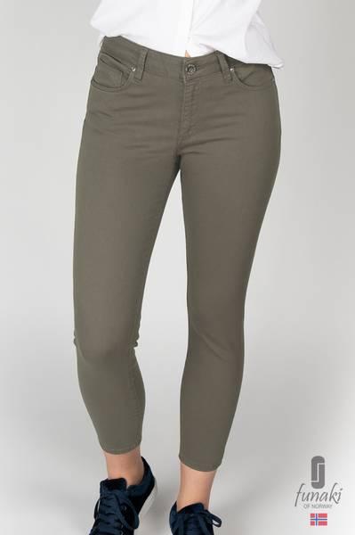 Funaki Frida khaki grønn twill jeans