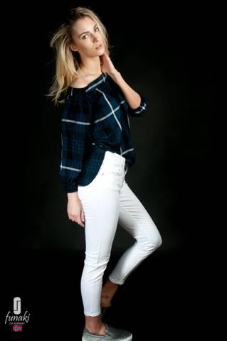 Bilde av Funaki Frida hvit twill jeans