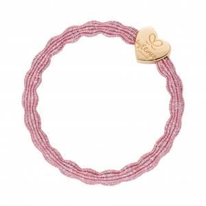 Bilde av BE Metallic gold heart rose pink